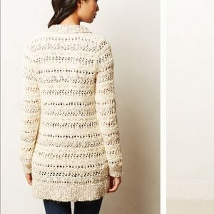 Anthro cable sweater with sequins